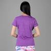 Áo thun thể thao nữ cổ tim COLO màu tím CL1709989CT