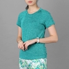 Áo thun thể thao nữ cổ tim COLO màu xanh rêu