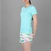 Áo thun thể thao nữ cổ tim COLO màu xanh ngọc