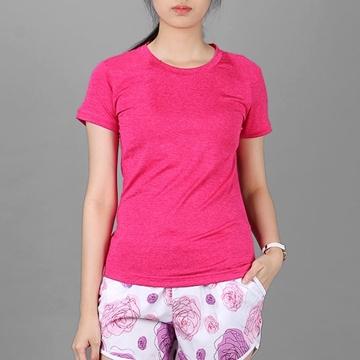 Áo thun thể thao nữ cổ tròn COLO màu hồng sen