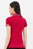 Áo thun nữ cổ vải phối caro đỏ