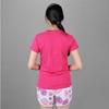 Bộ đồ thể thao nữ cổ tròn COLO màu hồng sen